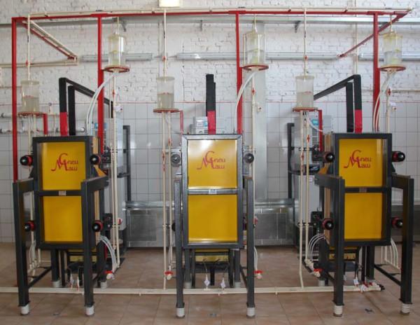 Установка обеззараживания воды типа МБЭ на основе мембранных биполярных электролизёров
